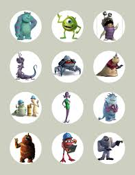 monster inc characters. Unique Inc Monsters Inc CharacterInspired Edible Icing Cupcake Or Cookie Decor  Toppers  MI1 Inside Monster Characters D