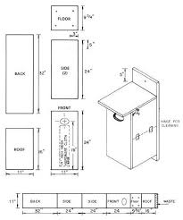 Birdhouse and Nest Box Plans for Several Bird Species   The    wood duck nest box plan