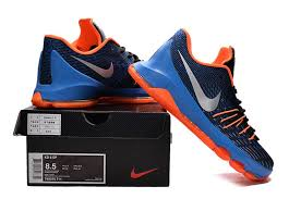 nike basketball shoes 2016 black. new nike kd basketball shoes away blue black orange on sale-5 2016 4