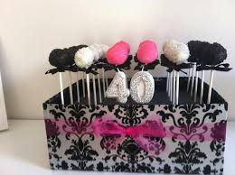 40th Birthday Cake Pops In A Box Something Different Sweet Cakes