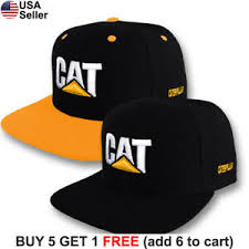 Details About Caterpillar Cap Cat Construction Embroidered Logo Hat Tractor Trucker Equipment