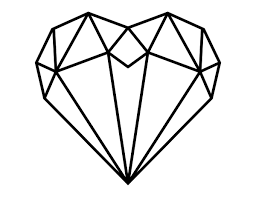 It comes from the heart, we promise you that. Printable Polygon Heart Coloring Page
