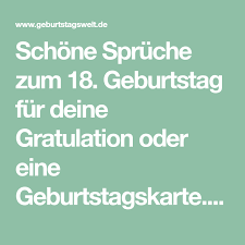 L Sprüche Zum 18 Geburtstag Glückwünsche Gedichte Zur