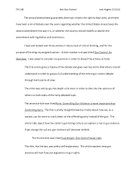 gun control essays sample english essay summary on gun control view larger