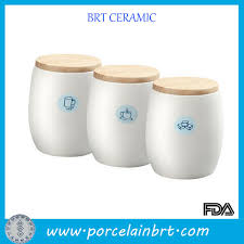 china coffee tea sugar ceramic storage jar with wooden lid china jar ceramic jar