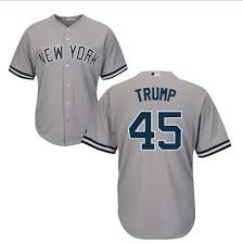 45 Presidential York Donald Sale Gray Candidate China From Cheap wholesale Men's New Yankees Jersey On for Trump