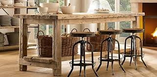 Light Colored Reclaimed Wood Kitchen Island