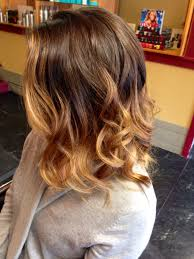 Ombré Color Brunette With Soft Blonde
