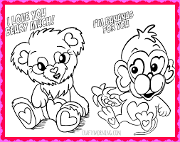 Small Picture Coloring Page Free Printable Valentine Coloring Pages For Kids