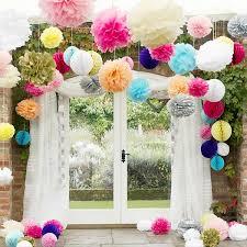 Tissue Paper Pom Poms Flower Balls Tissue Paper Pom Poms Flower Balls Wedding Party Stage Home Decoration