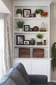 shelf decor living room