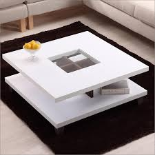 image of modern white coffee table small