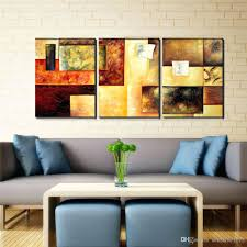 abstract art decor canvas wall hand paint large framed oil painting modern 3  pan . abstract art decor ...