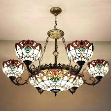 dining room light shades drum style chandeliers ceiling lamp shades decorative 9 light stained glass shade dining room light shades