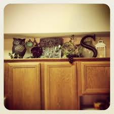 Kitchen Above Cabinet Decor Ideas Decorating Above The Cabinet