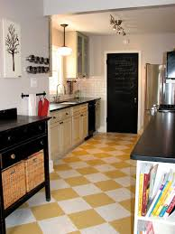 Linoleum Kitchen Floors Black And White Checkered Linoleum Flooring All About Flooring