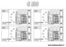 Una Raccolta Di Popolare Banconote Euro Da Colorare Per Bambini