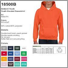 Gildan 18500 Size Chart Personalize Gildan 18500b Youth Hooded Sweatshirt