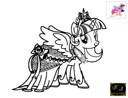 Kj Coloring Pages Twilight Sparkle Pages Inside