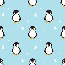 penguin pattern wallpaper. Simple Penguin Seamless Pattern Baby Penguin Standing On Sky Blue To Wallpaper A