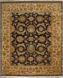 rugsville traditional wool black light gold rug 8 x 10