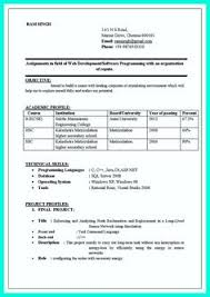 Computer Engineering Resumes Resume Format Pdf For Freshers Latest