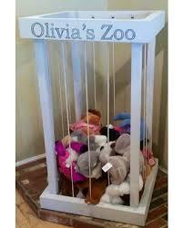 Zoo toy storage, zoo stuffed animal, toy box, stuffed animal holder, zoo