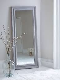 ... Stand Up Mirrors Standing Floor Mirror Long Mirror Leaning Against The  White Wall With ...