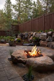 paver patio with gas fire pit. Brilliant Pit Paver Patio U0026 Gas Fire Pit In Northwest Bend Oregon  Newport  More Intended With Fire Pit