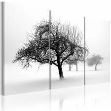 Schilderij Bomen Prachtig Wit Gekleurd 60x40