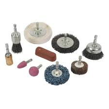 buffing wheel for drill. cleaning \u0026 polishing kit 10pce 6mm buffing wheel for drill f