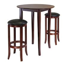 winsome fiona round 3pc high pub table set by oj commerce