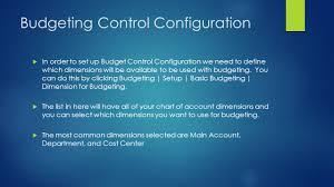 Budgeting In Microsoft Dynamics Ax By Brad Gehrls And Ryan