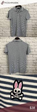 Psycho Bunny Size Chart Psycho Bunny Striped Polo Shirt Pyscho Bunny Short Sleeve