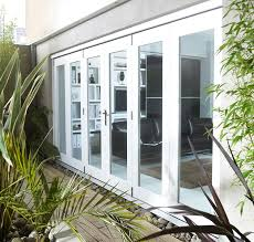 nuvu external white folding doors 44mm pre finished