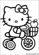 Hello Kitty Colring Sheets Hello Kitty Coloring Pages On Coloring Book Info