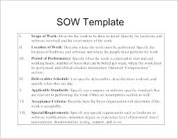 Simple Statement Of Work Template It Sow Template