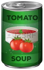 soup can clipart. soup can: tomato in aluminum can illustration clipart