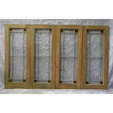 antique cabinet doors. set of 4 antique leaded cabinet doors q