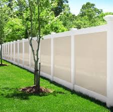 Delighful Vinyl Privacy Fence Ideas Illusions Pvc Photo And Inspiration Decorating