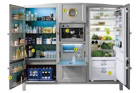 refrigerator unit. a refrigerator unit that is practically kitchen. e