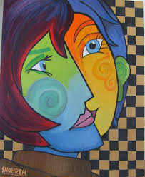 saatchi art artist shohreh sheybany painting oil color painting 16x20coppy cobism from