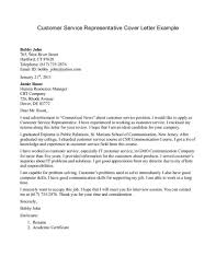 examples of cover letters for resumes customer service customer service cover letter