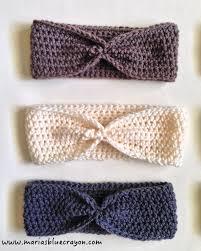Crochet Ear Warmer Pattern Mesmerizing Simple Crochet Ear Warmer Pattern For Beginners Maria's Blue Crayon
