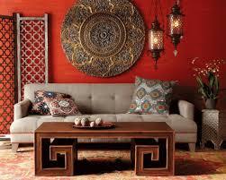 ... Moroccan interior decorating ideas, bright red color, unique Moroccan  lamps, room furniture and decorative accessories ...