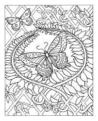 Pour Imprimer Ce Coloriage Gratuit Coloriage Difficile Papillon