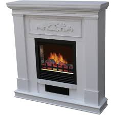 decor flame electric space heater fireplace with 38 mantle