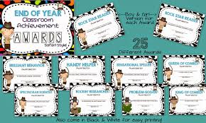 Achievement Awards For Elementary Students Mrs Megowns Second Grade Safari End Of Year Awards Superhero Style