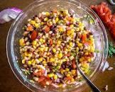black bean and corn salsa burrito