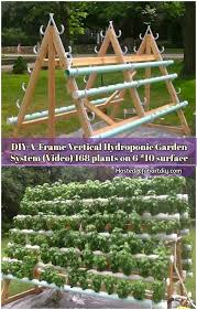 hydroponic vertical garden. Shares This A-frame Hydroponic Garden System Is A Great Project To Create Vertical That Maximizes The Number Of Plants Can Be Grown I\u2026